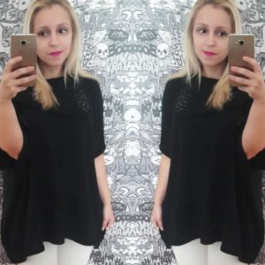 look tendência poncho preto gi medeiros 2017