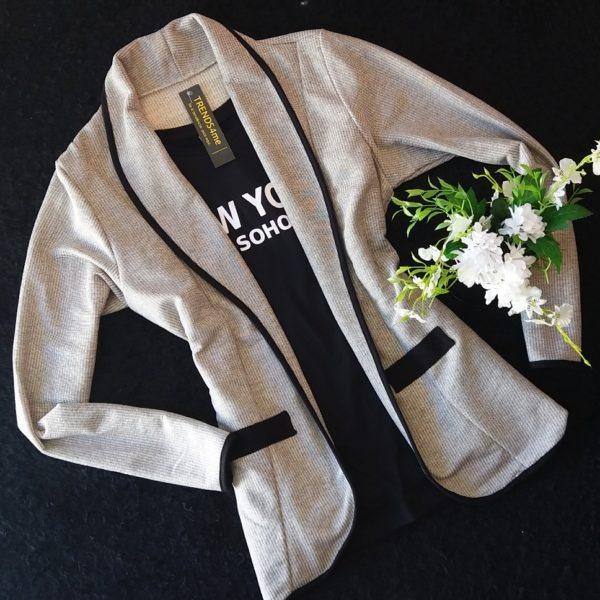 blazer cinza